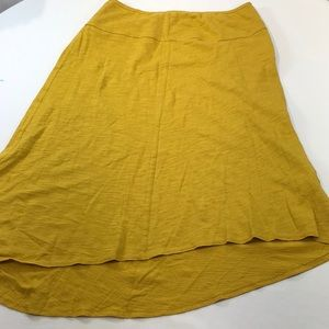 PrAna Knit Skirt Asymmetrical Hem ORGANIC COTTON